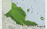 Satellite Map of Madang, lighten
