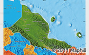Satellite Map of Madang, political outside