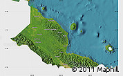Satellite Map of Madang, single color outside