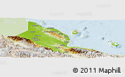 Physical Panoramic Map of Madang, lighten