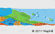 Political Panoramic Map of Madang