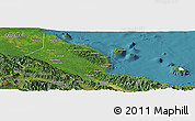 Satellite Panoramic Map of Madang