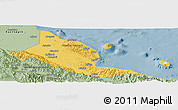 Savanna Style Panoramic Map of Madang