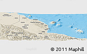 Shaded Relief Panoramic Map of Madang