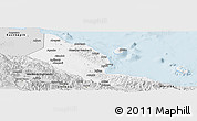 Silver Style Panoramic Map of Madang