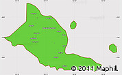 Political Simple Map of Madang, cropped outside