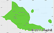 Political Simple Map of Madang, single color outside