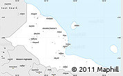 Silver Style Simple Map of Madang