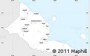 Silver Style Simple Map of Madang, single color outside