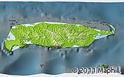 Physical 3D Map of Manus, darken