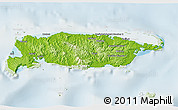 Physical 3D Map of Manus, lighten