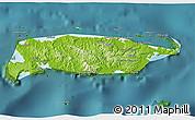 Physical 3D Map of Manus, satellite outside