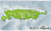 Physical 3D Map of Manus, semi-desaturated