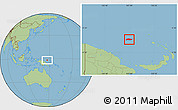 Savanna Style Location Map of Manus