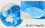 Shaded Relief Location Map of Manus