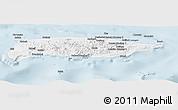 Classic Style Panoramic Map of Manus