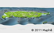 Physical Panoramic Map of Manus, darken