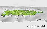 Physical Panoramic Map of Manus, desaturated