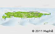 Physical Panoramic Map of Manus, lighten