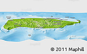 Physical Panoramic Map of Manus, political outside