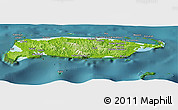 Physical Panoramic Map of Manus, satellite outside