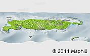 Physical Panoramic Map of Manus, semi-desaturated