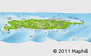 Physical Panoramic Map of Manus, shaded relief outside
