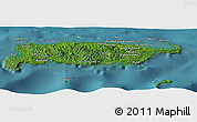 Satellite Panoramic Map of Manus