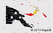 Flag Map of Papua New Guinea, flag centered