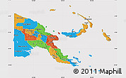 Political Map of Papua New Guinea, cropped outside