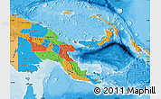 Political Map of Papua New Guinea