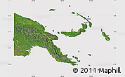 Satellite Map of Papua New Guinea, cropped outside