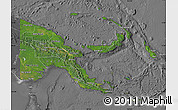 Satellite Map of Papua New Guinea, desaturated