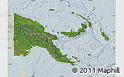 Satellite Map of Papua New Guinea, lighten