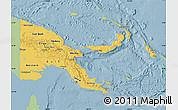Savanna Style Map of Papua New Guinea, single color outside