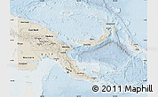 Shaded Relief Map of Papua New Guinea, lighten