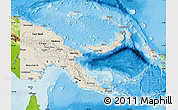 Shaded Relief Map of Papua New Guinea, physical outside