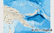 Shaded Relief Map of Papua New Guinea