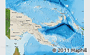 Shaded Relief Map of Papua New Guinea, satellite outside, shaded relief sea