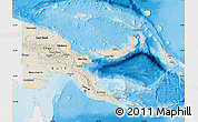 Shaded Relief Map of Papua New Guinea, single color outside
