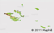Physical 3D Map of Milne Bay, cropped outside