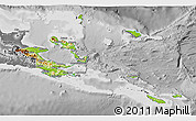 Physical 3D Map of Milne Bay, desaturated