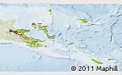 Physical 3D Map of Milne Bay, lighten