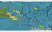 Physical 3D Map of Milne Bay, satellite outside