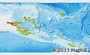 Physical 3D Map of Milne Bay, single color outside