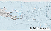 Silver Style 3D Map of Milne Bay