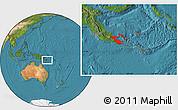 Satellite Location Map of Milne Bay
