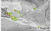 Physical Map of Milne Bay, desaturated