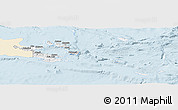 Classic Style Panoramic Map of Milne Bay, single color outside