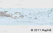 Gray Panoramic Map of Milne Bay